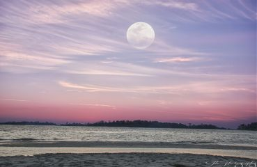 photography nature fullmoon colorful beach