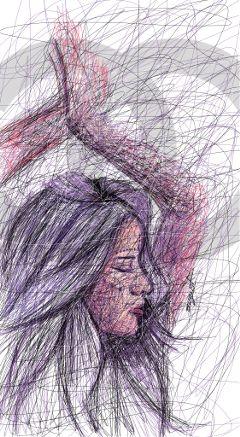 digital chanel art drawing girl