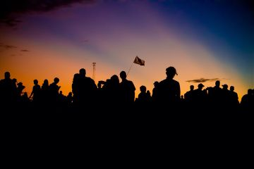 aclfest music sunset silhouette atx