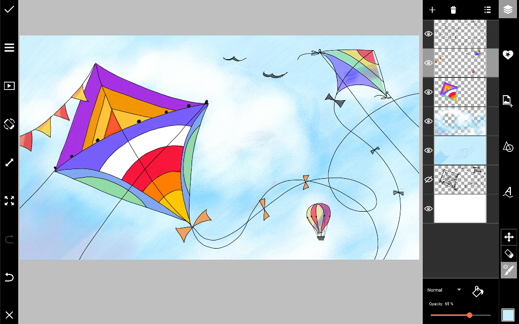 how to draw a kite