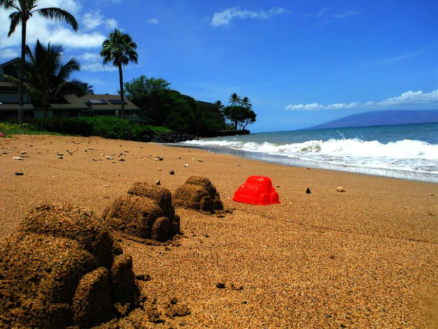 #redcar#beach#palmtree#sand#palmtree#bluesky#maui