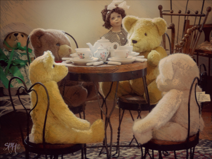 A cute scene in the Octagon house...   #historical #vintage #cute #my story  #toys