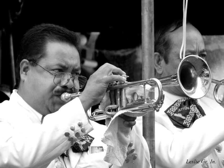 """""""El trompetista""""   #blackandwhite #freetoedit #oldphoto #photography #people #musica #trompetas #Leslie_Gr_In"""