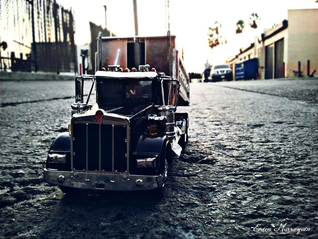 My friend got himself a keepsake which represents his passion.  #tiny #keepsake #truck #lifestyle #toy #representation #asphalt #hdr