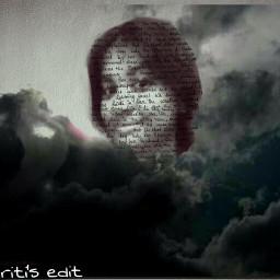artisticselfie clouds handwritting emotions layers