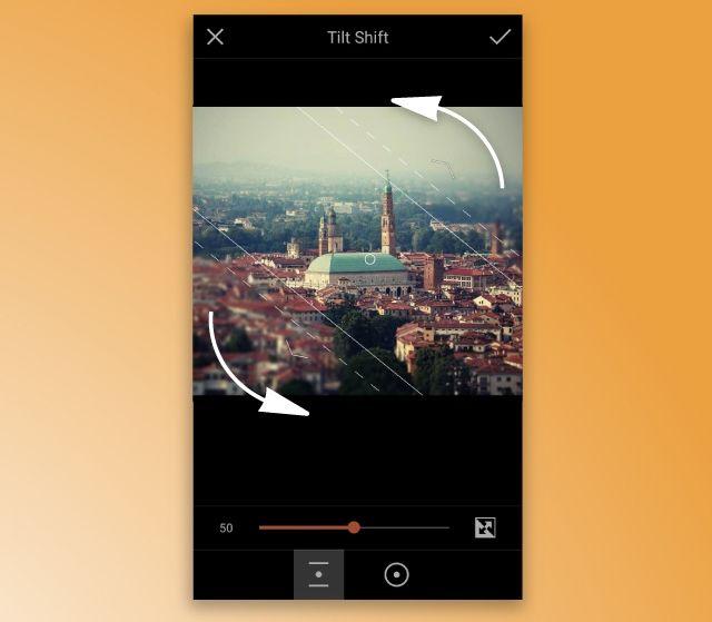 PicsArt Editor Tilt Shift Tool