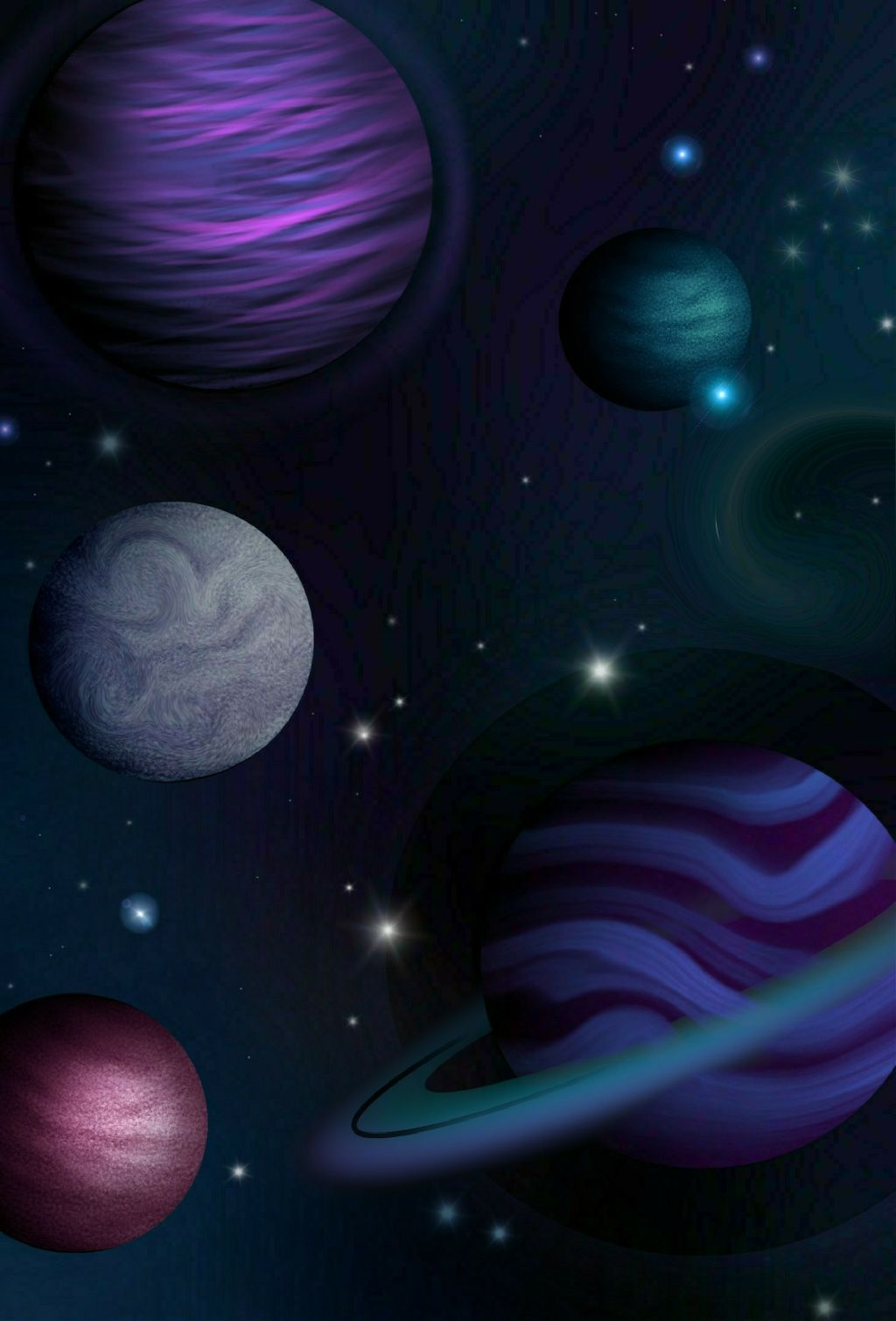 Dcouterspace Draw Space Planets Emotions Stars Travel
